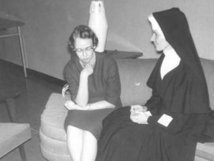 Flannery O'Connor, Notre Dame College, Baltimore, 1963.